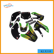 hot selling 3M glue klx 110 motorcycle sticker