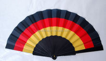 Hot Selling National Flag Shape Customize Promotional Gift Hand Fan
