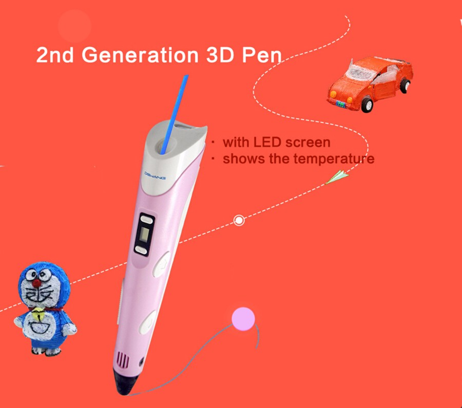 Innovative 3d print toys for children the second generation 3d printer pen drawing in the air
