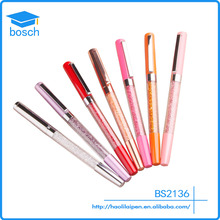 Christmas gifts Pink/gold crystal pen company logo promotional roller ball pen multicolor diamond metal pen