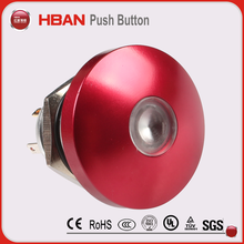 colorful head emergency push button start stop metal led switch 16mm 19mm 22mm 1NO push button switch wholesaler