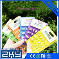 SZZKAIY-0096 Mini Flexible Silicon Calculator With Solar Power Soft Silicone 8 Digits LCD Display Electronic Calculator