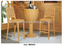 WDF-819 garden rattan bar tables and chairs used