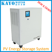 3KW household off grid solar energy storage system with 6.5KWh built-in polymer lithium battery