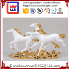 Resin Gold Plate Horse Modern Sculpture