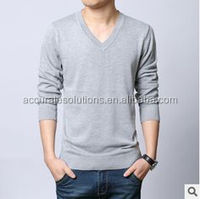 MEN COTTON CASHMERE V NECK AND ROUND NECK SWEATER