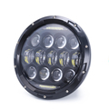 Top quality headlamp round 7 inch 75w hi low beam led headlight for jeep wrangler with DRL