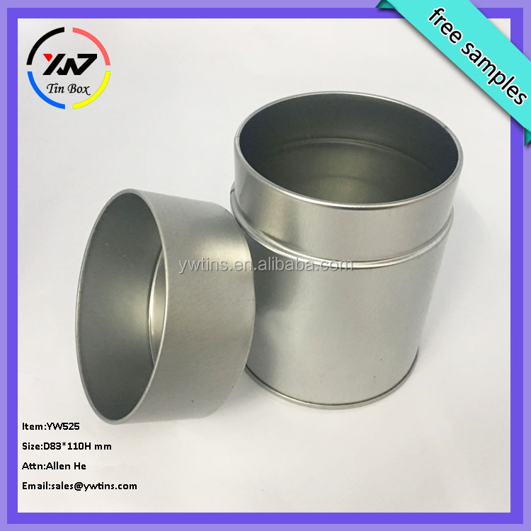 wholesale airtight empty tea tin can / round tin can / sliver can