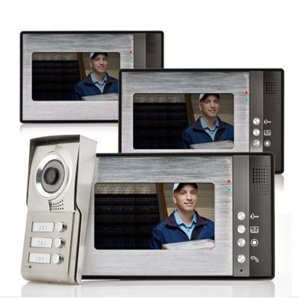 Handsfree video door phone,7 inch color monitor, waterproof camera