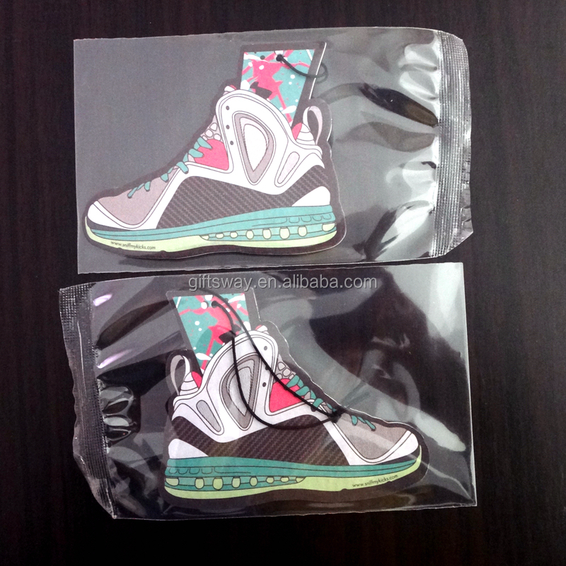 China wholesale new products customized Shoes shaped air freshener for car
