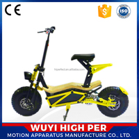Big off road foldable 1000W 1600W motor 48V 2 wheel fat tire electric scooter