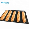 Silicone brown oblong bread eclair pastry molds mold form