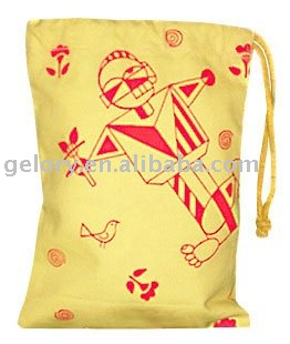high quality lintine drawstring bag for MP5,iphone,ipad ect/gift promotional drawstring bag