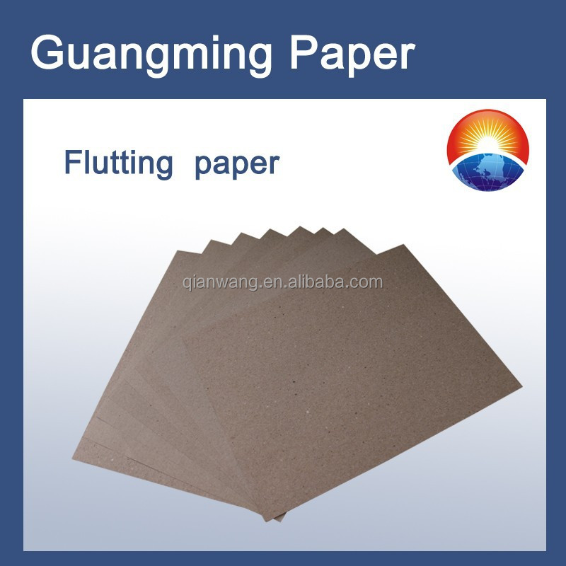 B grade 90gsm corrugated medium paper / fluting medium base paper