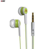 3 5mm earphone wired headphone earbuds, plastic earphone from Coco-cola factory