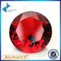 wholesales round machine diamond cut synthetic glass gems