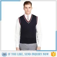 Sales mens leather vest latest design winter sweater