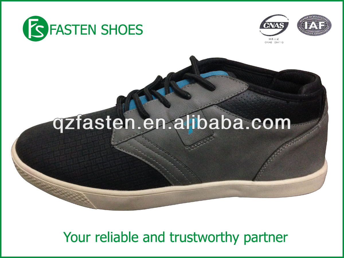 Middle cut custom design shoes skate OEM/ODM service PU upper comfortable textile lining Rubber sole lace up front style steady