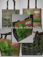 green eco friendly RPET shopping bag