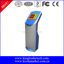 Extra silim freestanding kiosk display floor stand with pos terminal