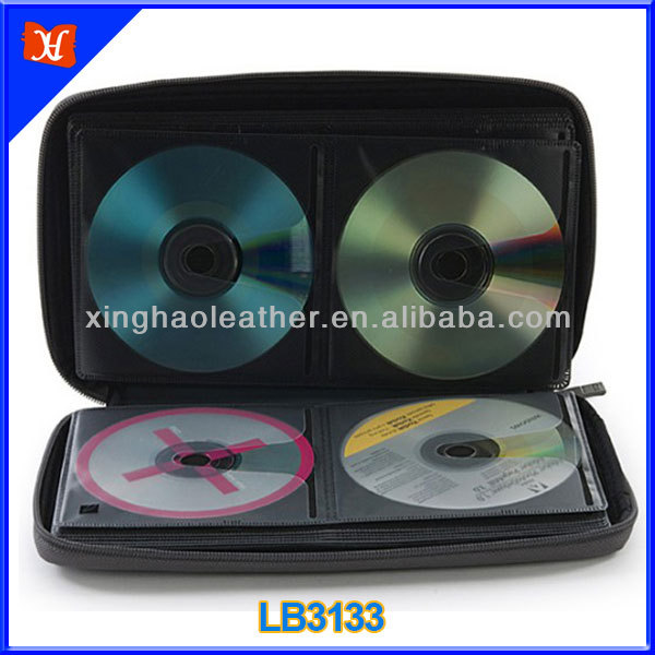 Colorful eye-catching zippered CD case personalized CD case,CD DVD case for 64pcs CDs