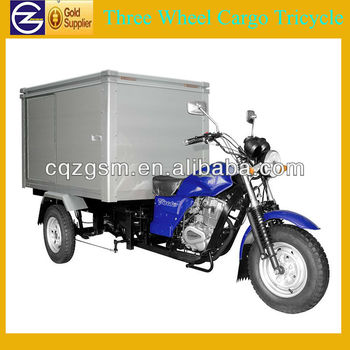 200cc Gasoline three wheeler with closed cargo box