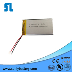 3.7v rechargeable lithium batteries,2200mah for microphone