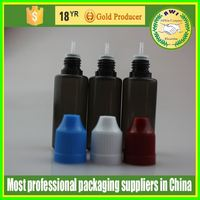 30ml clear child proof bottle with acutilingual press cap