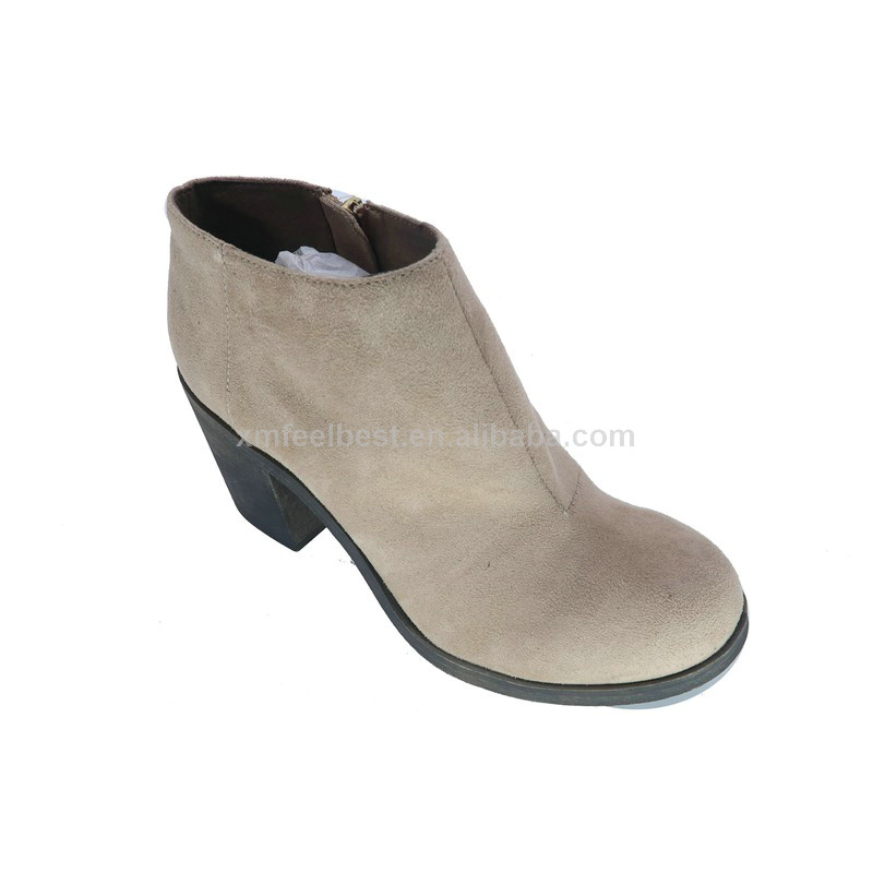 Latest tassels ornament ladies middle heel ankle boots women winter boots