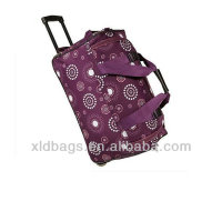 Rolling Duffle Bag Luggage Rolling Wheeled Suitcase Travel Duffel Purple Gift NEW