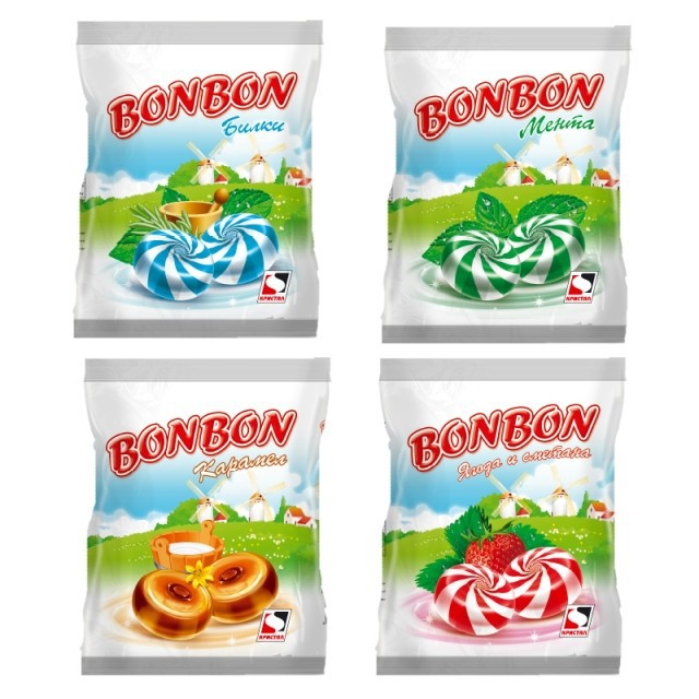 BONBON - Herbs, Mint, Strawberry & Cream and Caramel Flavors