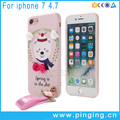 3D flowers cartoon printing absorbent scratch-proof soft flexible tpu case cover for iphone 7