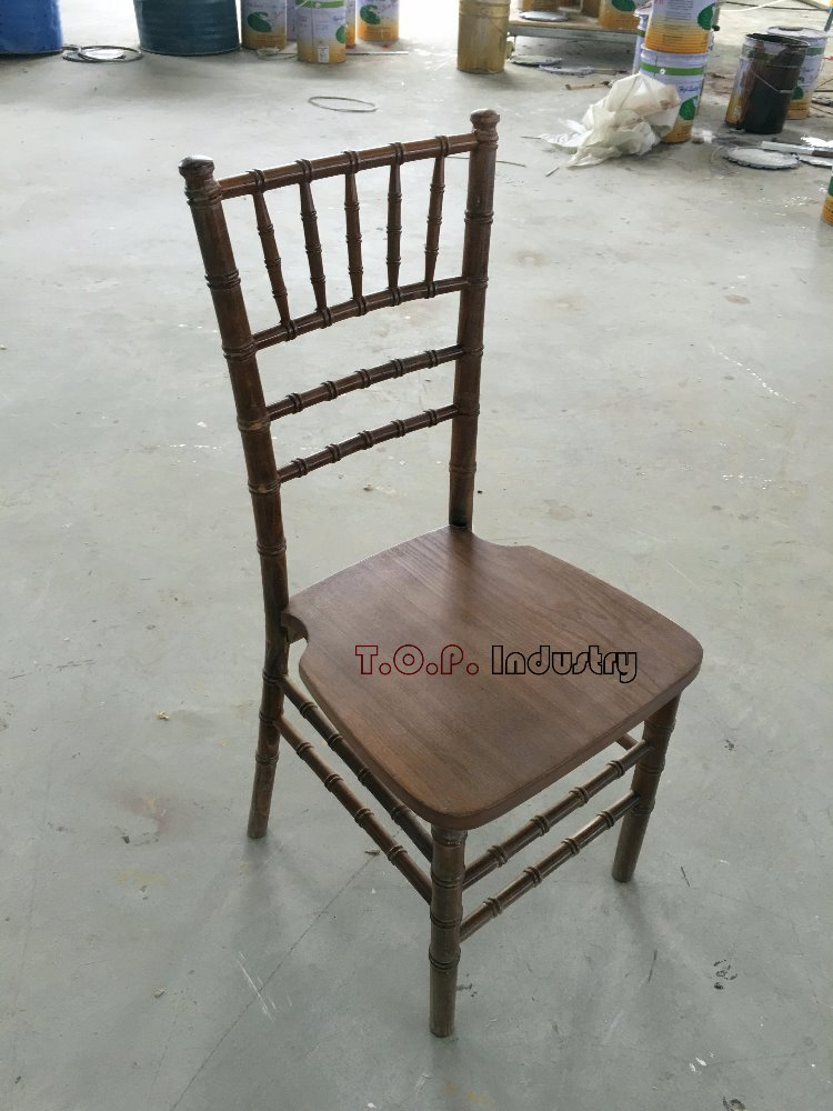 Durable Modern Chocolate Wood Chiavari Chair