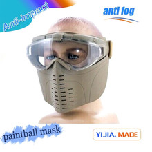 airsoft wargame gear mesh tactical full face mask with goggles