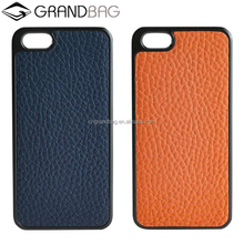 pebbled leather hard case for iphone 6/6 plus genuine cow leather cell phone hard shell custom logo cell phone case for iphone 7