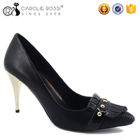 wholesale original brand shoes metal stiletto heel customize shoes ladies