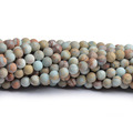 Gems Natural Stone CB49293 TImpression Jasper Frosted Round Beads 4mm ( 6mm8mm10mm12mm14mm)