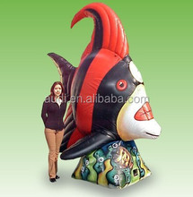 10 Ft. Tall Inflatable Red Angel Fish
