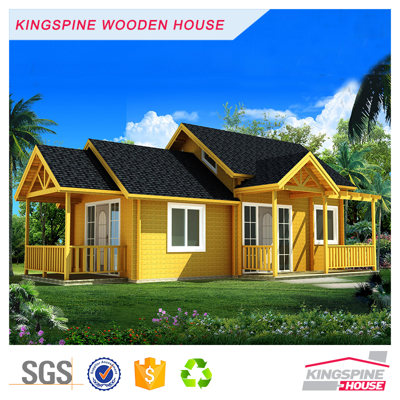 Simple Prefabricated Log Cabin High Quality Wooden Home KPL-004