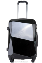 Fashionable bag top-quality travel trolley luggage ,hot sale suitcase with hardshell and diamond shape