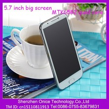 "N9589 5.7"" inch big screen mobile phone WCDMA MTK6582 quad core CPU 8.0 camera"