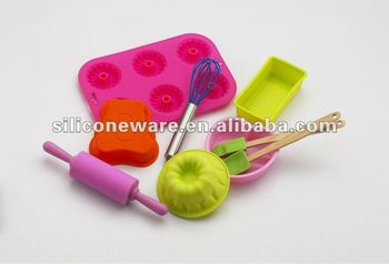 silicone baking set for kids