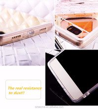 Phone Accessories Electroplated Mirror TPU Silicone Soft Cover Phone Case For Oppo A57