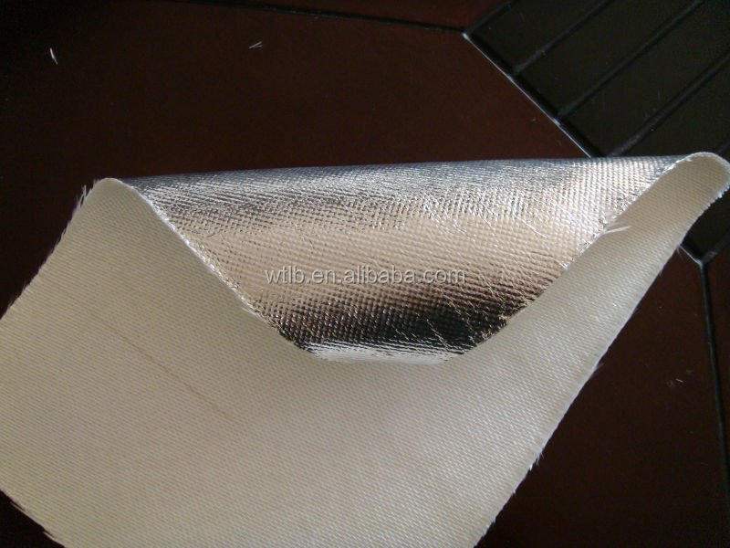 Rockwool heat insulation aluminum foil fiberglass cloth for Fireproof vapor barrier