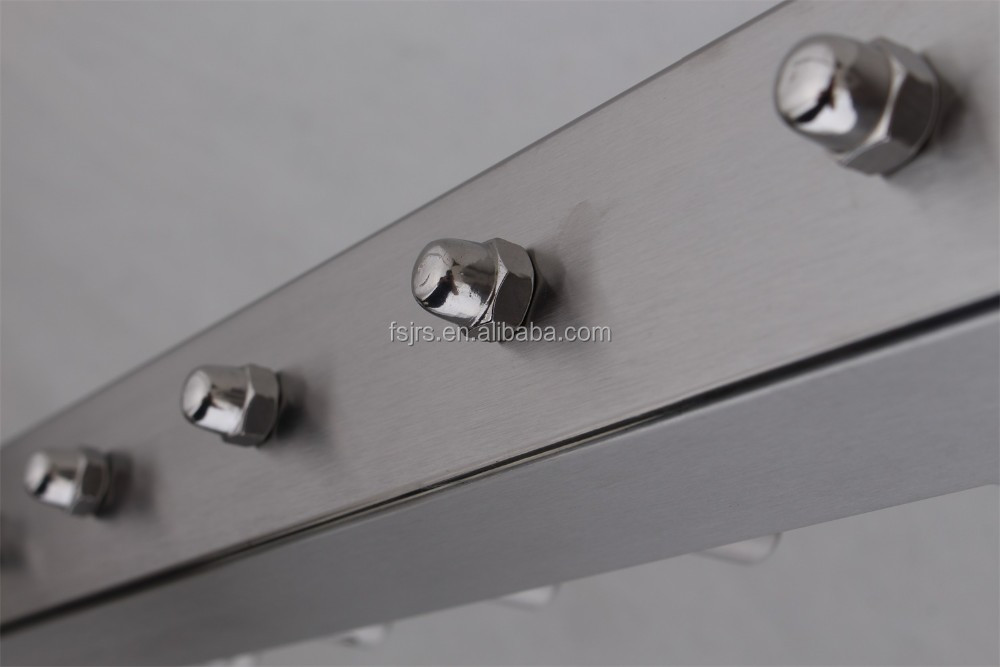 Modern stainless steel metal stair tubular handrail design for Terrace tubular design
