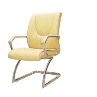 China Heated office chair Yellow Leather Conference Chair Executive office chair with wholesale price