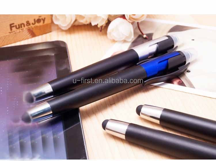 2016 Newest arrived 3 in 1 Fluorescent Pen With Touch Screen ballpoint Pen