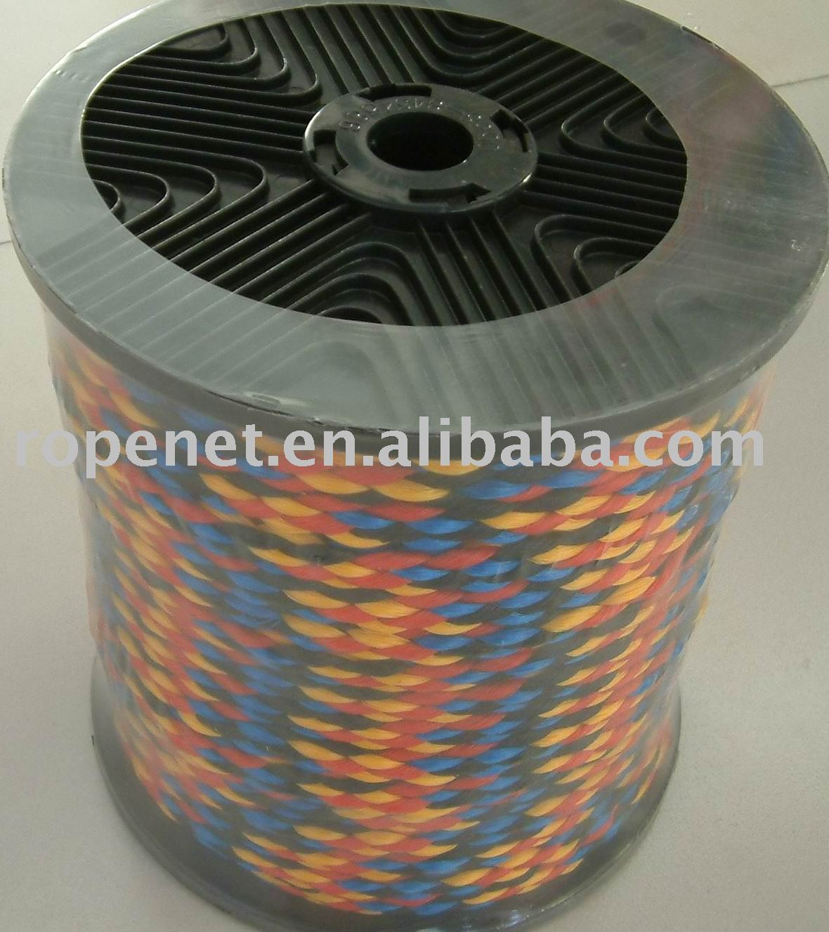 colored pp hollow braided rope/ hot line/cord ,braid rope