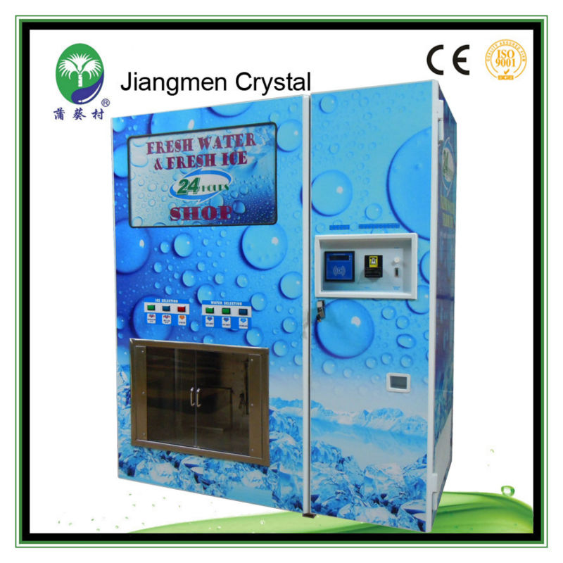High quality 800GPD & 450 kg per day automatic water ice vending machine for sale