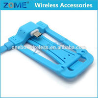 China Express For Samsung Galaxy S4 Mini USB Adjustable Charging With Stand Colorful Android Mobile Phone Data Cable